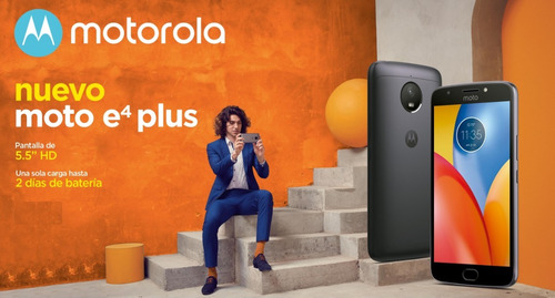 motorola moto e4 plus 13mp doble flash huella +  vidrio!