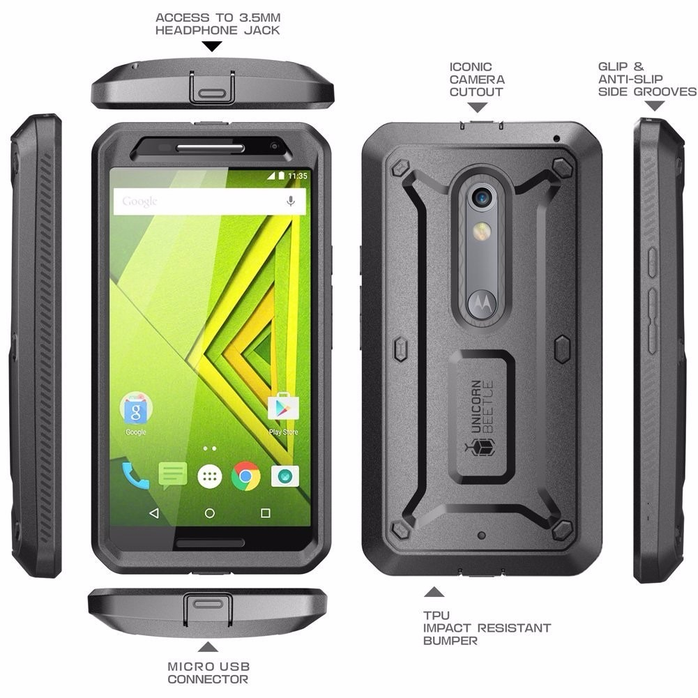 Motorola Moto X Play Case Funda Supcase Con Clip Uso Rudo - $ 720.00 ...