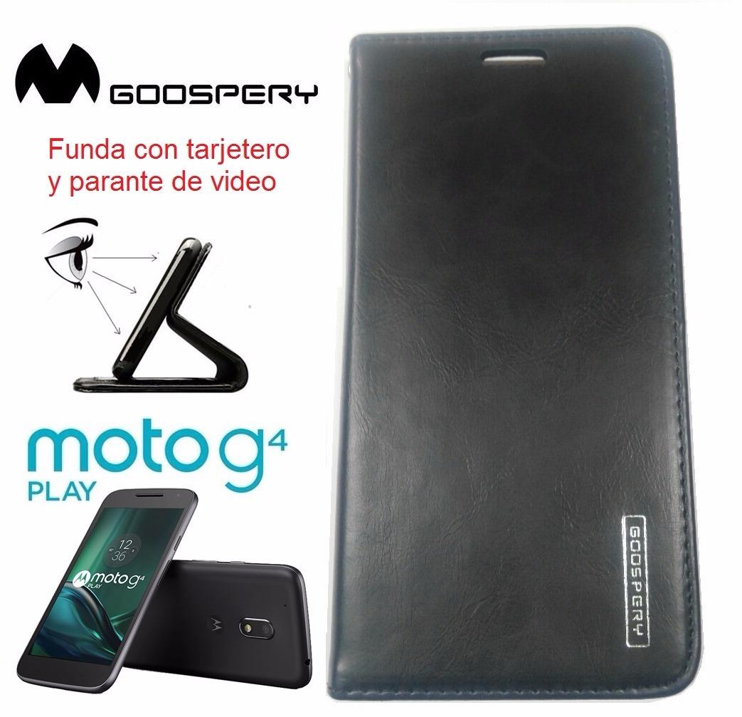 online retailer a5de9 5e66e Motorola Moto G4 Play Xt1601 Funda Flip Cover De Cuero Case