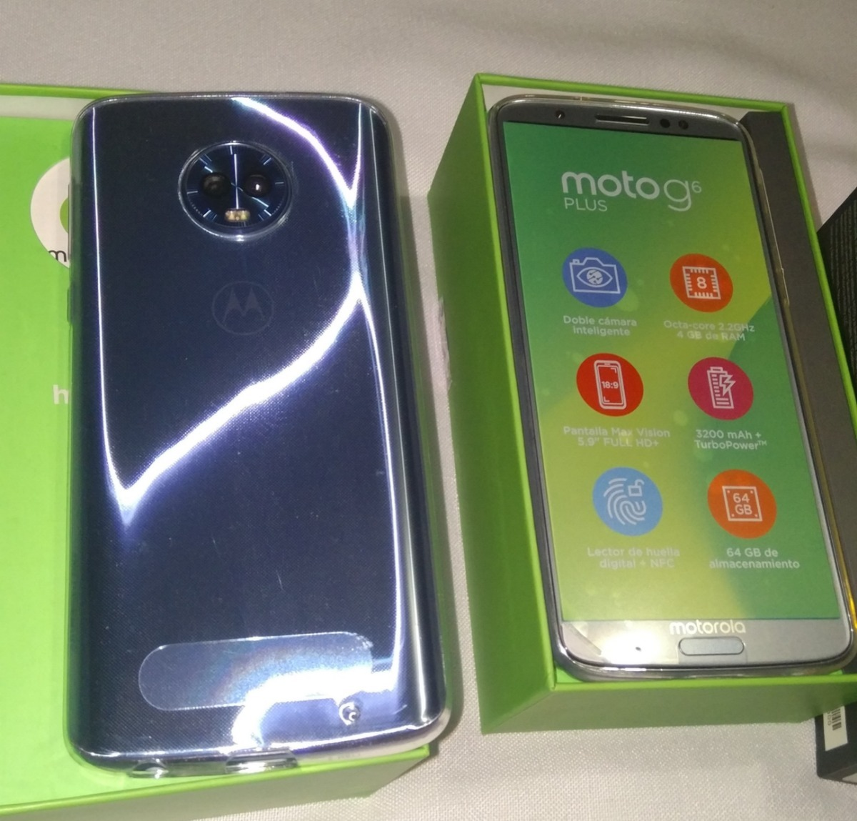 Motorola Moto G6 Plus Doble Sim Azul Nimbus Movistar 64gb