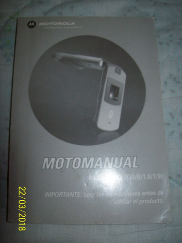 motorola - motomanual modelo v 3 (g8/9/1.8/1.9)