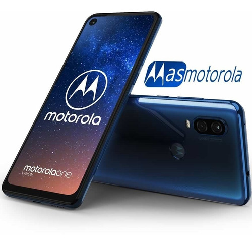 motorola one vision 128+4 gb dual sim libre 48mp+25mp