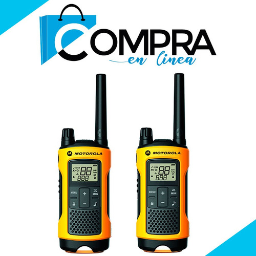 motorola radio walkie talkie 56km ip56 linterna led + regalo