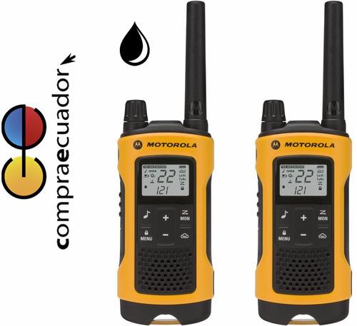 motorola radios t400 56km walkie talkie recargabl resis agua