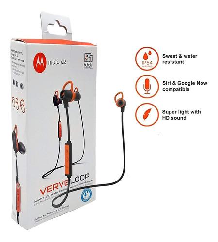 motorola verve loop auriculares estéreo inalámbricos negro
