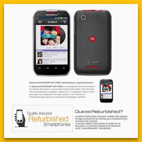 motorola xt550 smartphone libre android mp3 camara wifi 3g