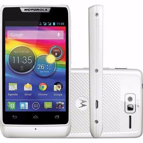 motorola xt916 branco razr d1 dual chip 3g android 4gb 5mp