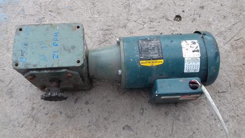 motorreductor baldor 1 hp.220-440 v. 3 fases  rel. 80:1