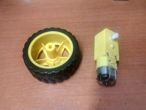motorreductor motor con caja reductora + llanta arduino pic