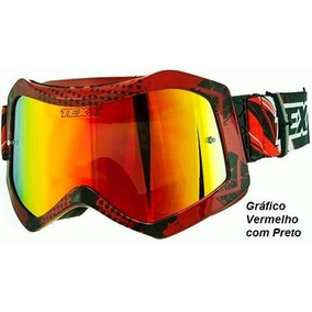02bbc9d9ee769 Oculos Texx Raider Pro Lente Iridium Motocross Trilha Enduro