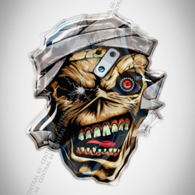 Stencil Aerografia Caveira Iron Maiden Eddie Fuzil Acessórios De