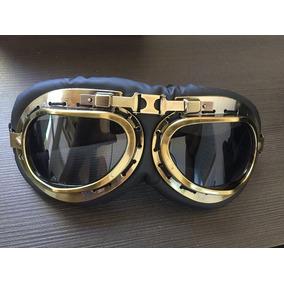 eb321453479d2 Óculos Aviador Bronze Retro Lente Fumê Vintage Moto Custom. R  79