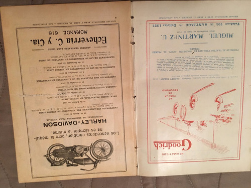 motos chile 1919  auto y aero   nro 86 .motos raras