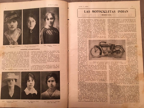 motos chile 1919 auto y aero revista nro 76.motos raras