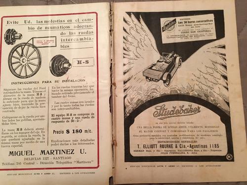 motos chile 1919 auto y aero revista  nro 79.motos raras