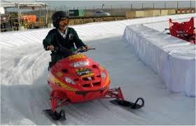 motos de nieve para atraccion infantil navideña