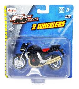 Kawasaki Z 1000 negro escala 1:18 moto modelo de maisto
