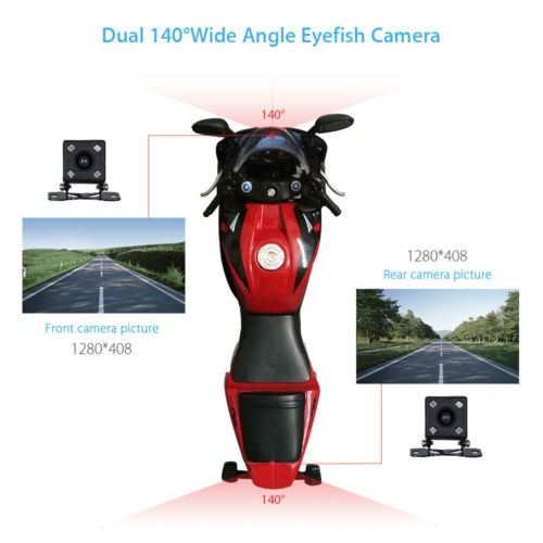 motos genérico coche acción doble cámara dvr video hd 0.3mp