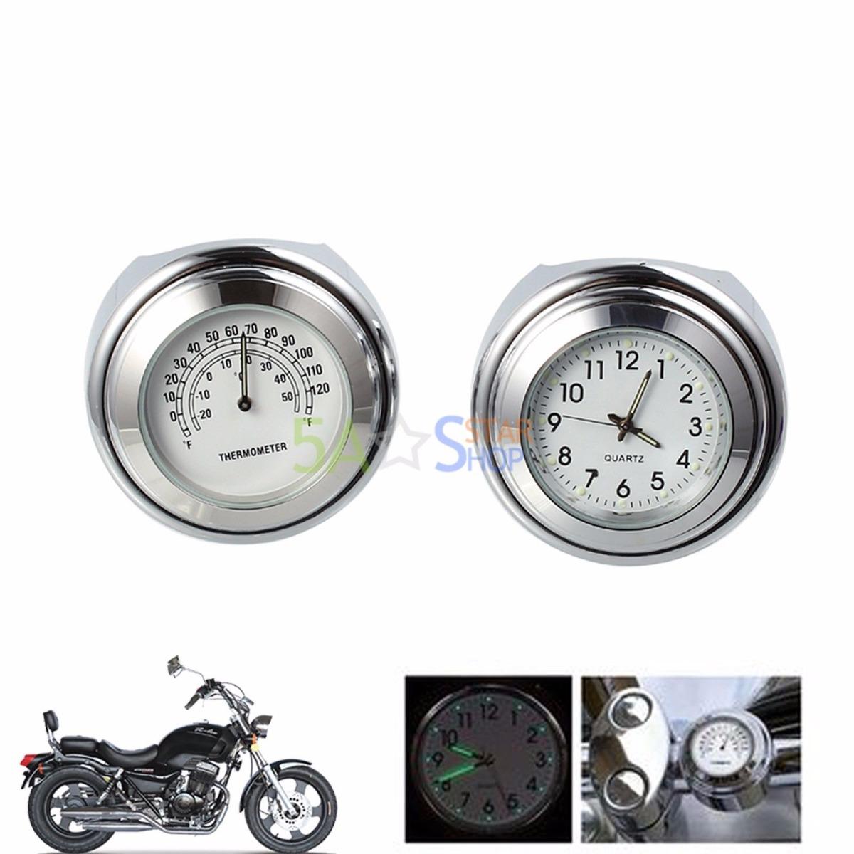9658f7fda motos universal manillar mount dial reloj y termómetro temp. Cargando zoom.