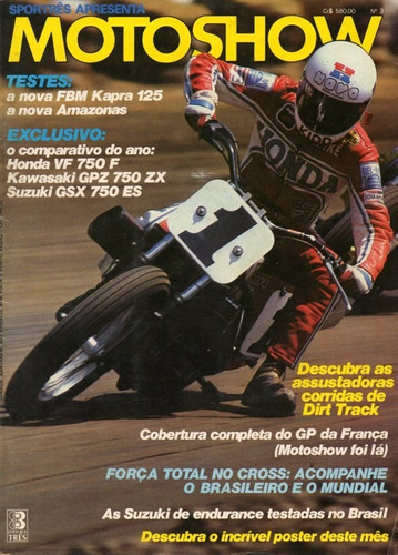motoshow n°3 fbm kapra 125 amazonas honda vf 750f suzuki gsx