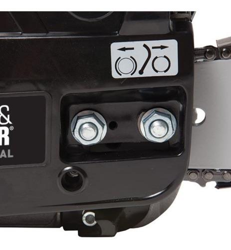 motosierra a gasolina black + decker ggk45 18 pulgadas