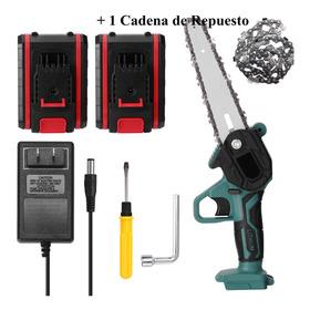 Motosierra De Poda Con 2 Baterias Y Cadena De Repuesto