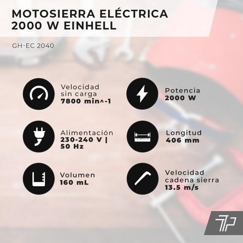 motosierra electrica electrosierra einhell 2000w espada 40cm