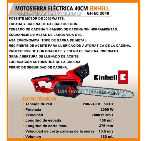 motosierra electrica electrosierra einhell gh-ec 2040 40cm moto sierra motocierra cierra jardin podador poda jardinero