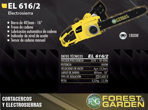 motosierra electrica electrosierra forest garden 1800w 616/2
