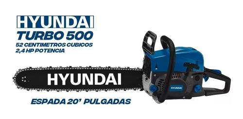 motosierra hyundai turbo 500 52cc 20 2.2kw 550ml cuotas full