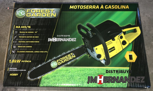 motosierra ma 445/16  forest & garden +gafas+guantes
