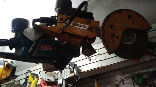motosierra para concreto wacker y makita