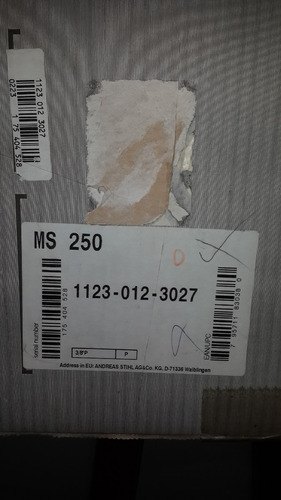 motosierra stihl ms250 original nueva