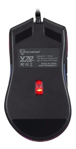 motospeed v70 mouse preto 12000 dpi 7 botões garantia + nf