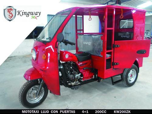 mototaxi de lujo con puertas  200cc  2017  kingway mx
