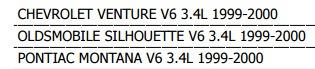 motoventilador pontiac montana 1999 - 2000 v6 3.4 l xkp