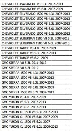 motoventilador tahoe 2007 - 2013 v8 4.8 / 5.3 / 6.2 l xkp