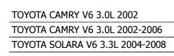 motoventilador toyota camry 2002 - 2006 v6 3.0 l xkp
