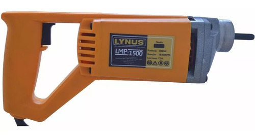 motovibrador de concreto lynus c/ 2 mangotes 1,5 e 3,5 mts