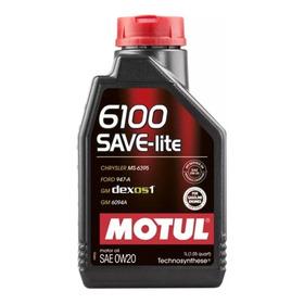 Motul 6100 Save-lite 0w20 Api Sn- Dexos 1 ( Ford,gm,civic)