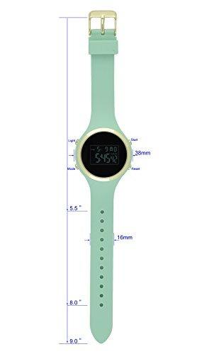 moulin ladies pastel color digital jalea reloj pantalla oscu