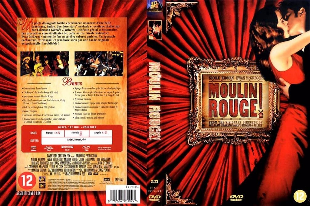 Moulin Rouge Dvd Original 12000 En Mercado Libre