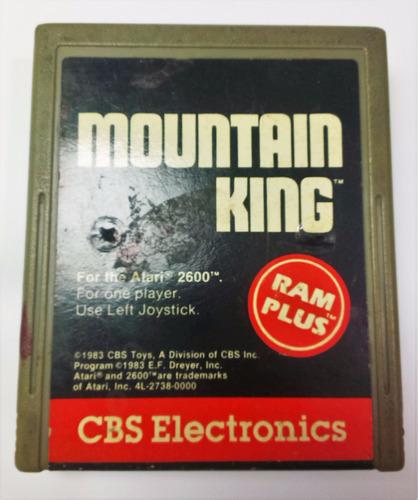 mountain king atari 2600 cartucho retromex tcvg
