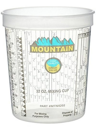 mountain mtn4202 mountain disposable quart mixing cup 100 po