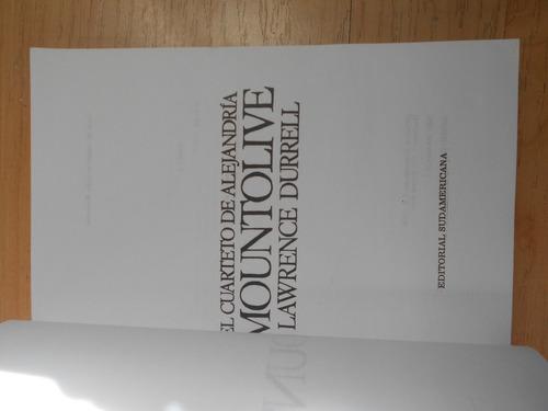 mountolive durrell novela  el cuarteto de alejandría