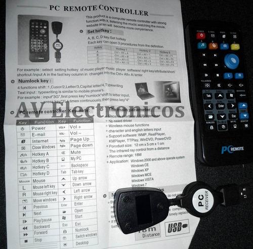 mouse a distancia control pc laptop rockola 10m