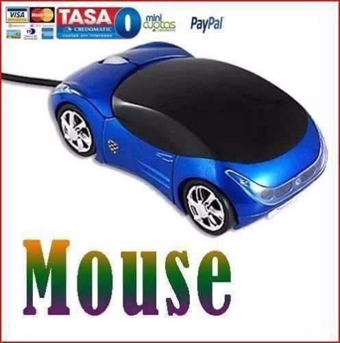 mouse alalámbrico carro azul 3d usb laptop pc galaxy mac 4g