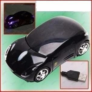 mouse alalámbrico carro negro 3d usb laptop pc galaxy mac 4g