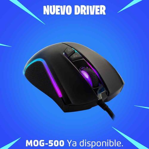 mouse alambrico gamer rgb optico 4000dpi game factor mog500