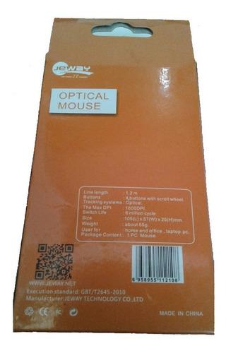 mouse alambrico optical jm-1121